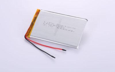 Li-Poly Akku LP606090 3.7V 4000mAh 14.8Wh mit Schutzschaltung & Drähten 70mm