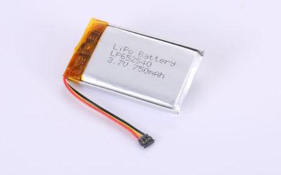 Lithium-Polymer-Akku LP652540 3.7V 750mAh 2.78Wh mit Schutzschaltung & 10K NTC & Drähten 40mm & Molex 78172-0003