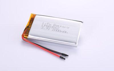 Li Po Akku LP883562 3.7V 2000mAh 7.4Wh mit Schutzschaltung & Drähten 50mm
