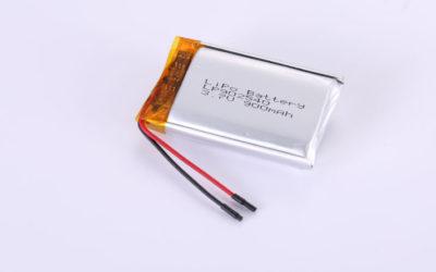 Lithium Polymer Akku LP902540 3.7V 900mAh 3.33Wh mit Schutzschaltung & Drähten 30mm