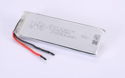 Lithium Polymer Akkus LPHD7134098 3.7V 2800mAh 10.36Wh mit Schutzschaltung & Drähten 50mm