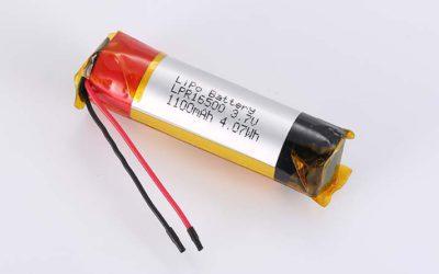 Zylindrische Lithium Polymer Akkus LPC16500 3.7V 1100mAh 4.07Wh ohne Schutzschaltung, mit Drähten 40mm