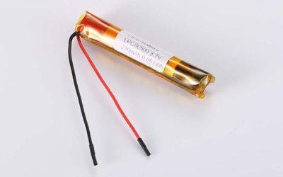 Lithium Polymer Akkus LPC80500 3.7V 230mAh 0.851Wh ohne Schutzschaltung, mit Drähten 50mm