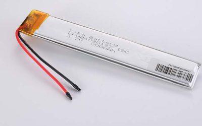 Lithium Polymer Akkus LPHD4520122 3.7V 800mAh 15C 2.96Wh ohne Schutzschaltung, mit Drähten 50mm