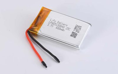 Lithium Polymer Akku LPHD5130048 3.7V 600mAh 25C 2.22Wh ohne Schutzschaltung, mit Drähten 50mm