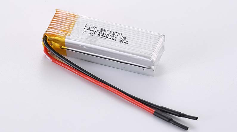 Lithium Polymer Akku LPHD7018055 2S 7.4V 520mAh 40C 3.85Wh ohne Schutzschaltung, mit Drähten 80mm