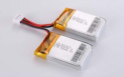 Lithium Polymer Akkus LPHD7030040 2P 3.7V 700mAh 20C 2.59Wh mit Schutzschaltung & Drähten 30mm & JST XHP-4