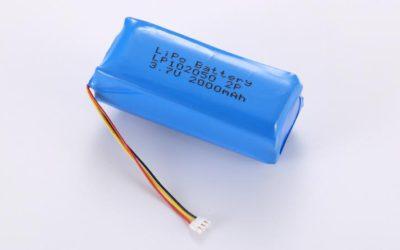 Lithium Polymer Akkus LP102050 2P 3.7V 2000mAh 7.4Wh mit Schutzschaltung & 10K NTC & Drähten 50mm & JST ACHR-03V
