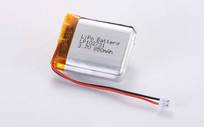 Lithium Polymer Akkus LP102731 3.7V 850mAh 3.14Wh mit Schutzschaltung & Drähten 50mm & JST PHR-2