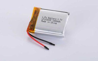 Lithium Polymer Akkus LP103035 3.7V 1000mAh 3.7Wh mit Schutzschaltung & Drähten 30mm