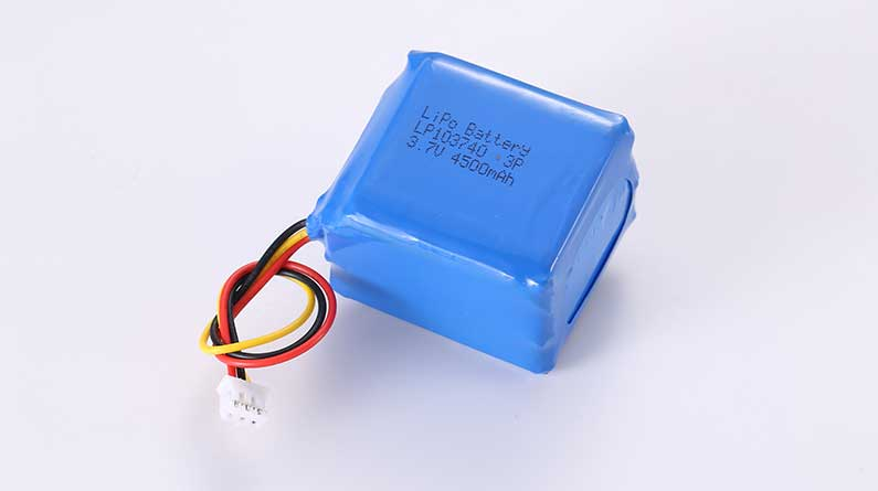 Lithium Polymer Akkus LP103740 3P 3.7V 4500mAh 16.65Wh mit Schutzschaltung & Drähten 50mm & 10K NTC & JST PHR-3