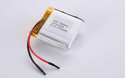 Lithium Polymer Akkus LP104038 3.7V 1750mAh 6.48Wh mit Schutzschaltung & Drähten 35mm
