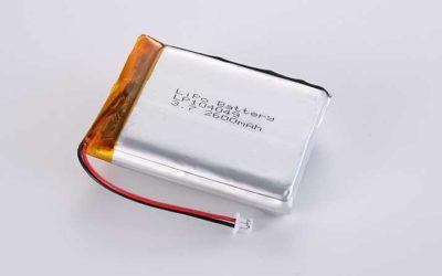 Lithium Polymer Akkus LP104049 3.7V 2600mAh 9.62Wh mit Schutzschaltung & Drähten 45mm & JST ACHR-02V