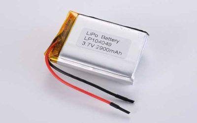 Lithium Polymer Akkus LP104049 3.7V 2900mAh 10.73Wh mit Schutzschaltung & Drähten 50mm