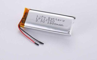Lithium Polymer Akkus LP112560 3.7V 1800mAh 6.66Wh mit Schutzschaltung & Drähten 30mm
