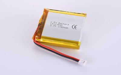 Lithium Polymer Akkus LP114545 3.7V 1700mAh 6.29Wh mit Schutzschaltung & Drähten 50mm & JST PHR-2