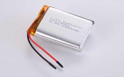 Lithium Polymer Akkus LP124053 3.7V 2900mAh 10.73Wh mit Schutzschaltung & Drähten 50mm