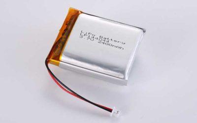 Lithium Polymer Akkus LP144044 3.7V 2400mAh 8.88Wh mit Schutzschaltung & Drähten 45mm & Molex 51021-0200