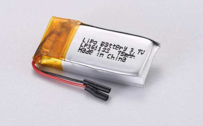 Lithium Polymer Akkus LP361122 3.7V 75mAh 0.28Wh mit Schutzschaltung & Drähten 10mm