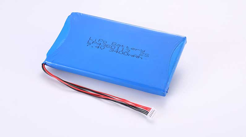 Lithium Polymer Akkus LP4360113 2S 7.4V 3400mAh 25.16Wh mit Schutzschaltung & Drähten 50mm & Molex 51021-0600