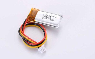 Lithium Polymer Akkus LP451226 3.7V 110mAh 0.41Wh mit Schutzschaltung & Drähten 30mm & 10K NTC & Molex 51021-0300