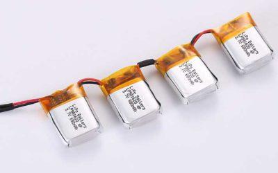Lithium Polymer Akkus LP581620 4P 3.7V 680mAh 2.52Wh mit Schutzschaltung & Drähten 20mm