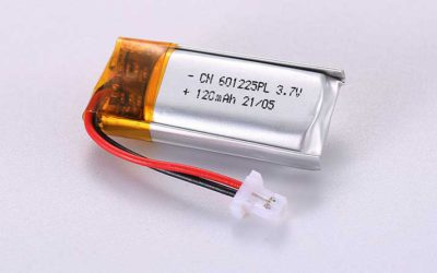 Lithium Polymer Akkus LP601225PL 3.7V 120mAh 0.44Wh mit Schutzschaltung & Drähten 20mm & JST SHR-02V-S-B