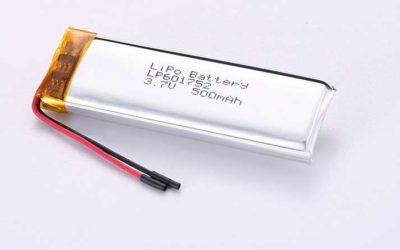 Lithium Polymer Akkus LP601752 3.7V 500mAh 1.85Wh mit Schutzschaltung & Drähten 30mm