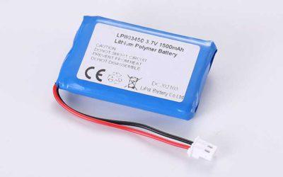 Lithium Polymer Akkus LP803450 3.7V 1500mAh 5.55Wh mit Schutzschaltung & Drähten 50mm & Molex 5037-5023