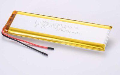 Lithium Polymer Akkus LP8735125 3.7V 5500mAh 20.35Wh mit Schutzschaltung & Drähten 50mm