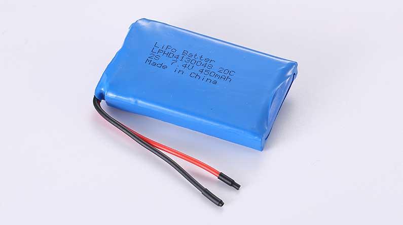 Lithium Polymer Akkus LPHD4130048 2S 7.4V 450mAh 3.33Wh mit Schutzschaltung & Drähten 50mm