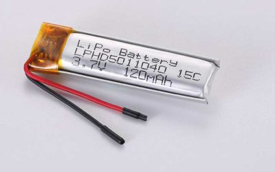 Lithium Polymer Akkus LPHD5011040 3.7V 120mAh 0.44Wh mit Schutzschaltung & Drähten 30mm