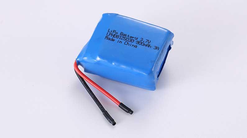 Lithium Polymer Akkus LPHD8125030 3.7V 900mAh 3.33Wh mit Schutzschaltung & Drähten 25mm