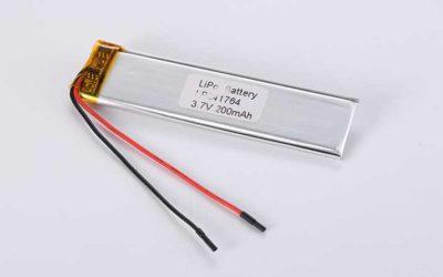 Lithium Polymer Akkus LP241764 3.7V 200mAh 0.74Wh mit Schutzschaltung & Drähten 50mm