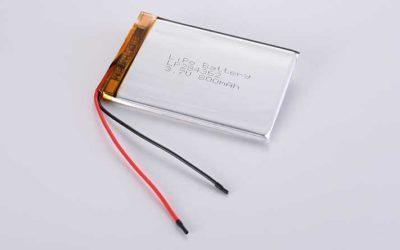 Lithium Polymer Akkus LP284362 3.7V 800mAh 2.96Wh mit Schutzschaltung & Drähten 50mm