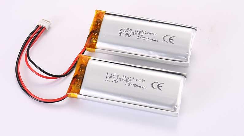 Lithium Polymer Akkus LP112560 2P 3.7V 1800mAh 6.66Wh mit Schutzschaltung und Drähten 50mm und Molex 87439-0400