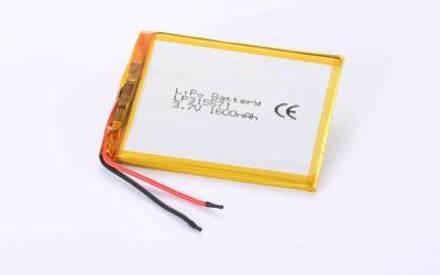 Lithium Polymer Akku LP315571 3.7V 1600mAh 5.92Wh mit Schutzschaltung & Drähten 35mm