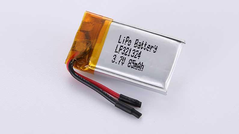 Lithium Polymer Akku LP321324 3.7V 85mAh 0.31Wh ohne Schutzschaltung, mit Drähten 15mm