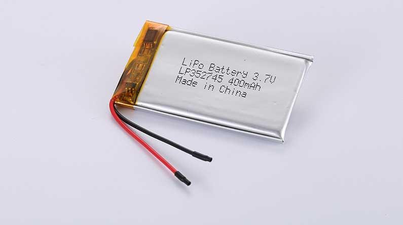 Lithium Polymer Akku LP352745 3.7V 400mAh 1.48Wh mit Schutzschaltung & Drähten 35mm