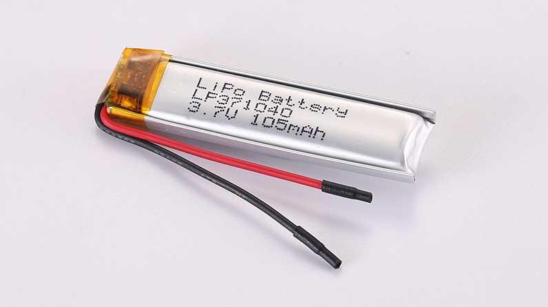 Lithium Polymer Akkus LP371040 3.7V 105mAh 0.39Wh mit Schutzschaltung und Drähten 35mm