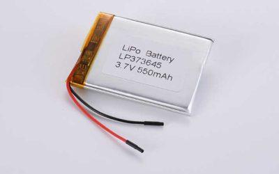 Lithium Polymer Akku LP373645 3.7V 550mAh 2.04Wh mit Schutzschaltung & Drähten 40mm
