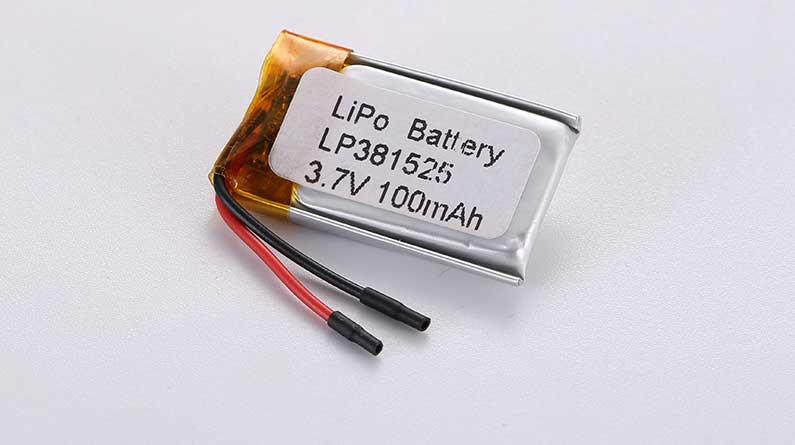 Lithium Polymer Akkus LP381525 3.7V 100mAh 0.37Wh mit Schutzschaltung & Drähten 15mm