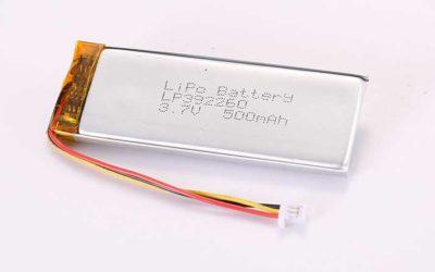 Lithium Polymer Akkus LP392260 3.7V 500mAh 1.85Wh mit Schutzschaltung und Drähten 50mm und 10K NTC und Molex 51021-0300