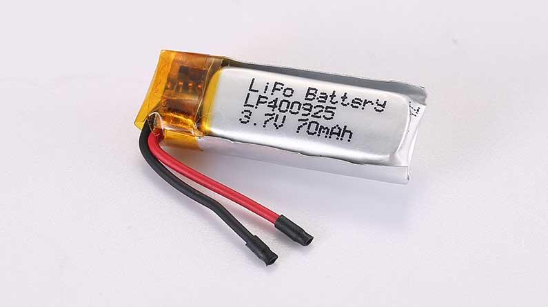 Lithium Polymer Akkus LP400925 3.7V 70mAh 0.26Wh mit Schutzschaltung und Drähten 15mm