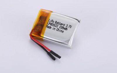 Lithium Polymer Akkus LP401622 3.7V 100mAh 0.37Wh mit Schutzschaltung & Drähten 15mm