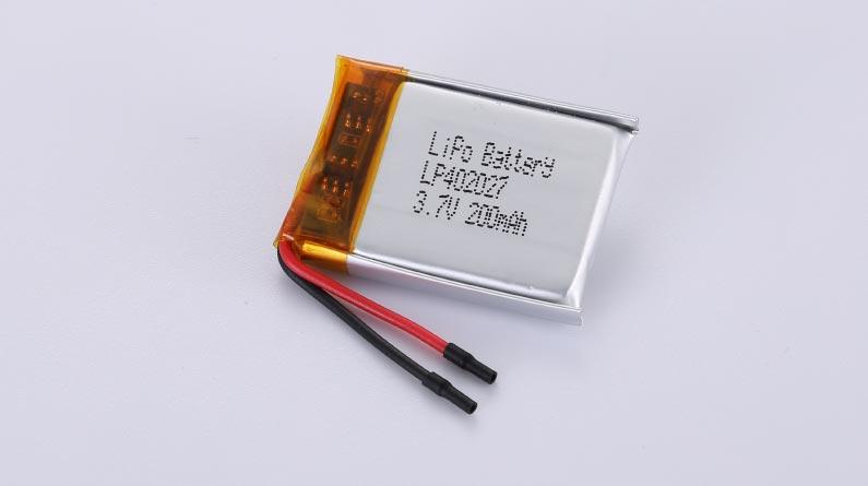Lithium Polymer Akkus LP402027 3.7V 200mAh 0.74Wh mit Schutzschaltung & Drähten 25mm