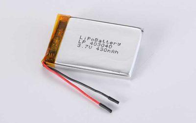 Lithium Polymer Akkus LP403040 3.7V 430mAh 1.59Wh mit Schutzschaltung & Drähten 40mm