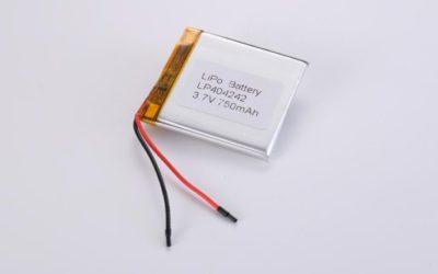 Lithium Polymer Akku LP404242 3.7V 750mAh 2.78Wh mit Schutzschaltung & Drähten 40mm