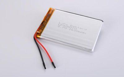 Lithium Polymer Akkus L405070 3.7V 1620mAh 6.0Wh mit Schutzschaltung & Drähten 50mm