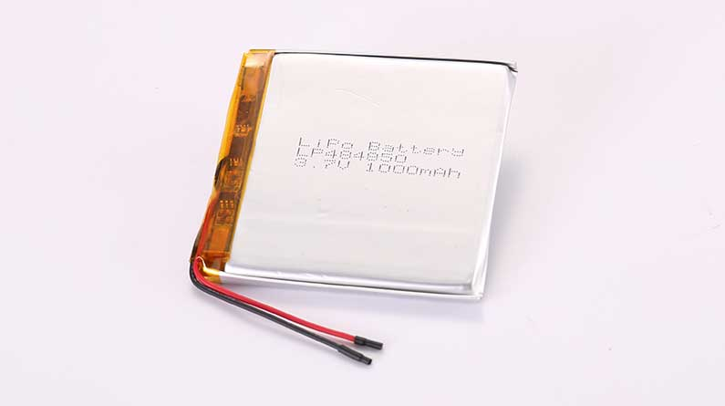 Lithium Polymer Akku LP484850 3.7V 1000mAh 3.7Wh mit Schutzschaltung und Drähten 35mm